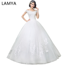 AMYA V Neck Cheap Wedding Dresses Lace Up Elegant Bridal Gown Vintage Plus Size Vestido De Noiva Real Photo cheap wedding dress