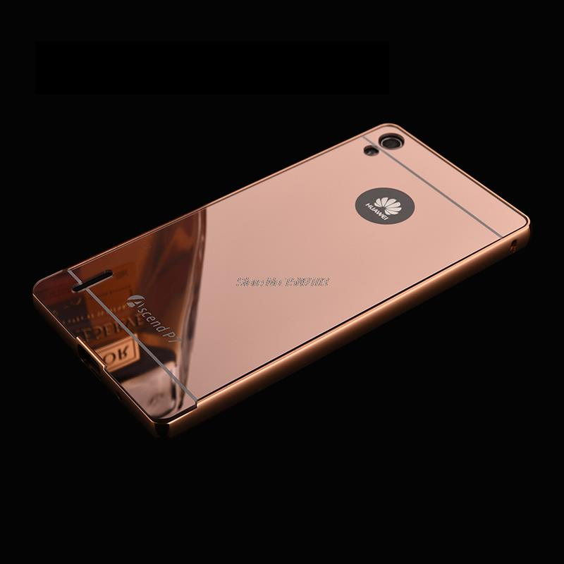 huawei p7. aliexpress.com : buy holazing 2 in 1 detachable metal aluminum bumper frame case for huawei p7 with mirror back hard cover ascend from reliable