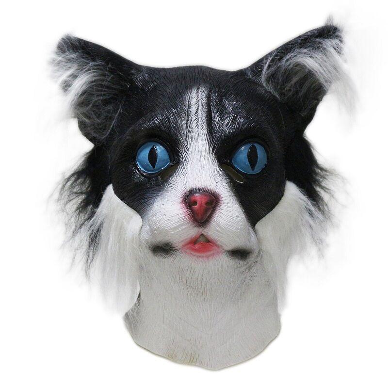 ca43f232c6136 ヾ(^▽^)ノشعبية الحيوان زي واقعية القط قناع ديلوكس القط اللباس - a997