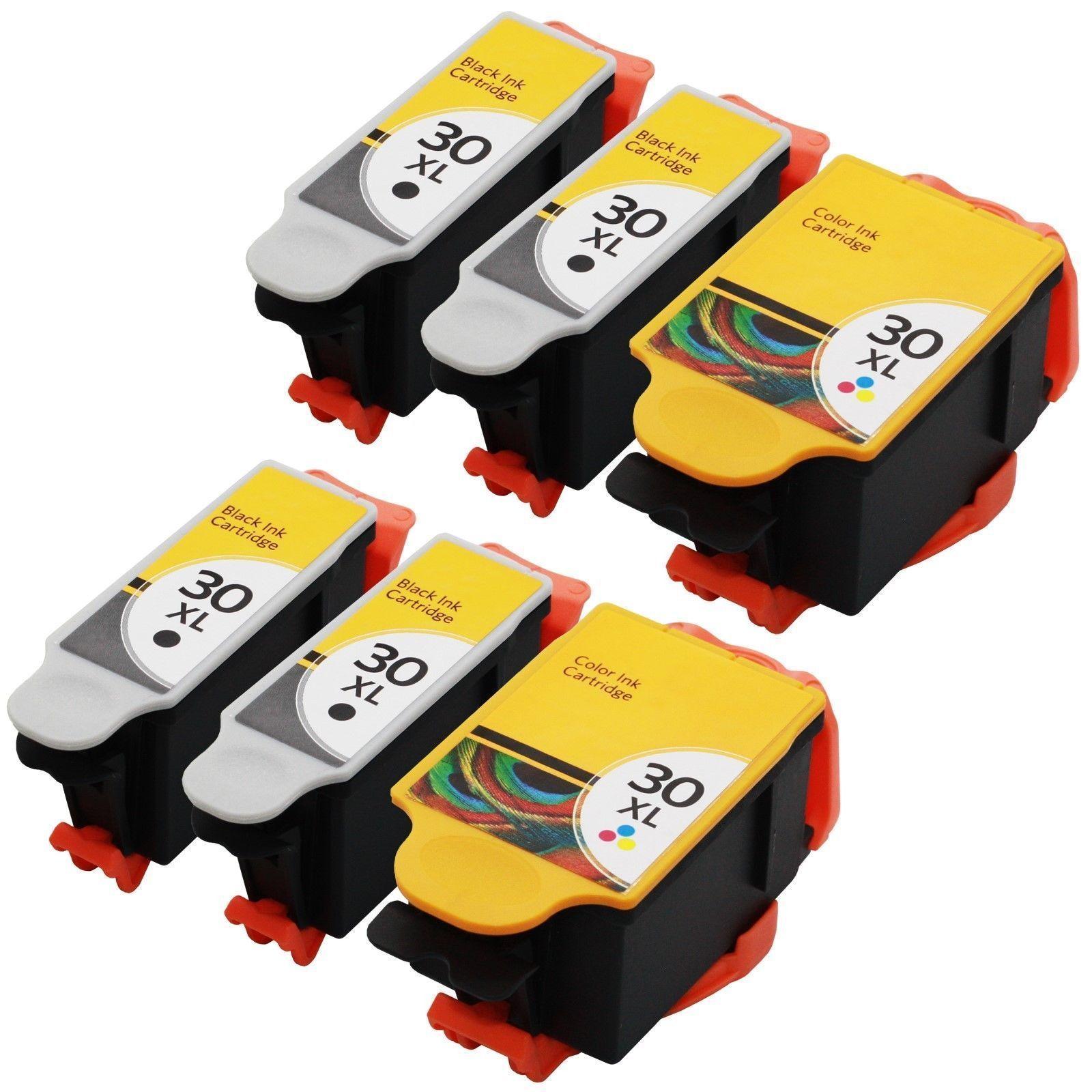 6 x Kodak 30XL Black & Colour Compatible Ink Cartridges for ESP 3.2s Printer
