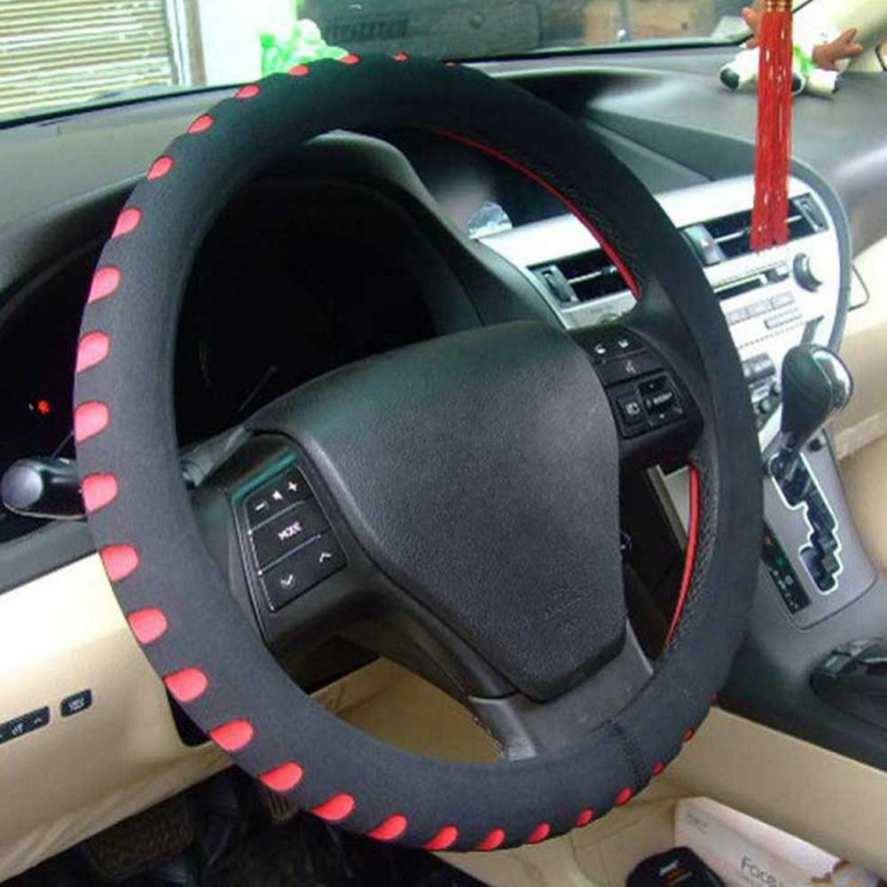 EVA Punching Universal Car Steering Wheel Cover Diameter 38cm Automotive Sup High Quality Car Styling Accessories 3 Colors 10