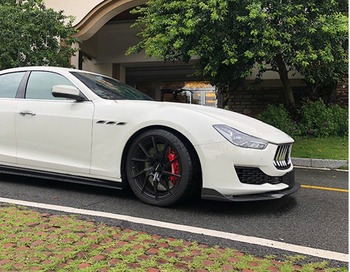 Carbon Fiber Lip Bumper Splitter Schort Bodk Kit Voor Maserati Ghibli 2018-up Auto Styling