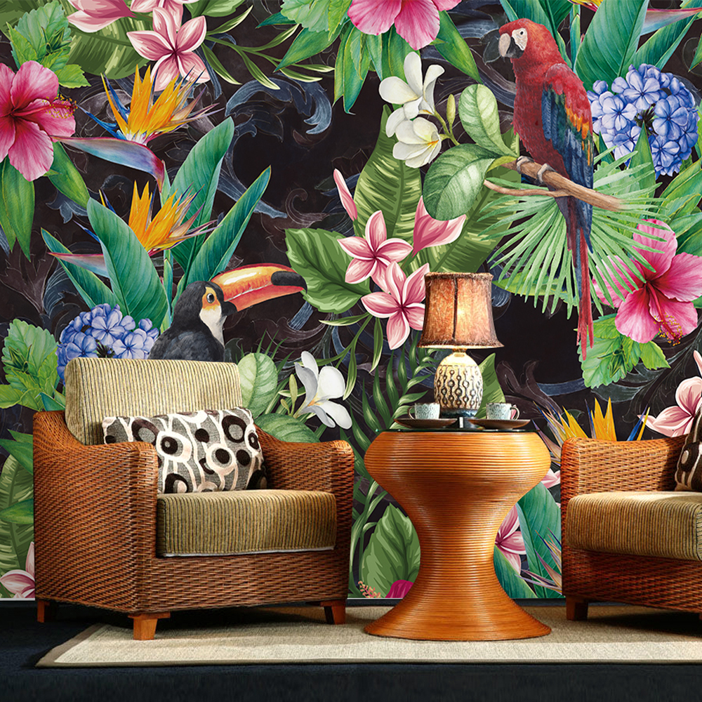 Southeast Asia flower Bird Wallpaper Murals for Walls Bedroom Photo Print Wallpapers 3 d Wall Paper Papier Modern Wall Coverings sea world 3d wallpaper murals for living room bedroom photo print wallpapers 3 d wall paper papier modern wall coverings