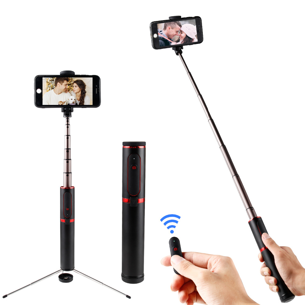 купить ASHANKS Bluetooth Selfie Stick Mini Tripod 3 in 1 Monopod Selfie Stick Wireless Remote Shutter for Android Iphone X/8/8plus/7/6 онлайн