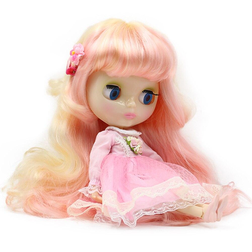 Helado Nude Blyth muñeca serie n. ° 313/1010 amarillo mezcla de pelo Rosa adecuado para el juguete del cambio DIY Licca, Pullip, jerryberry-in Muñecas from Juguetes y pasatiempos on AliExpress - 11.11_Double 11_Singles' Day 1