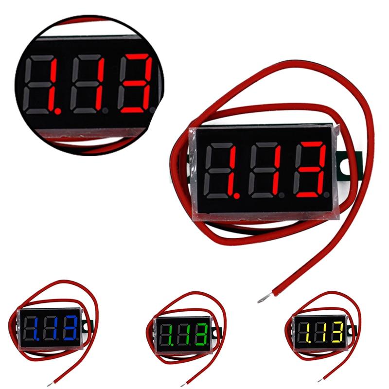 Mini 0.36 inch DC 4.5V-30.0V 3 bits two wire Voltmeter Red LCD display Digital Volt Gauge voltage meter Voltmeter 30% off