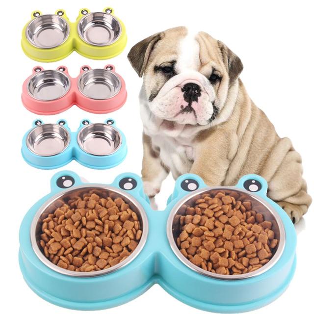 Pet Dog Water Bowl Feeding Feeder Cute Shape Dog Feeder Drinking For