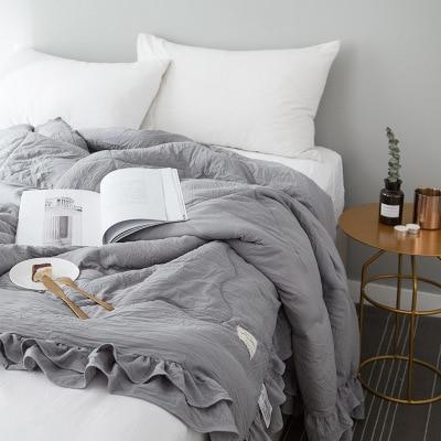 Однотонное розовое, зеленое, тонкое летнее одеяло, покрывало для кровати, лоскутное одеяло, подходит для взрослых, детей, домашний текстиль - Цвет: B