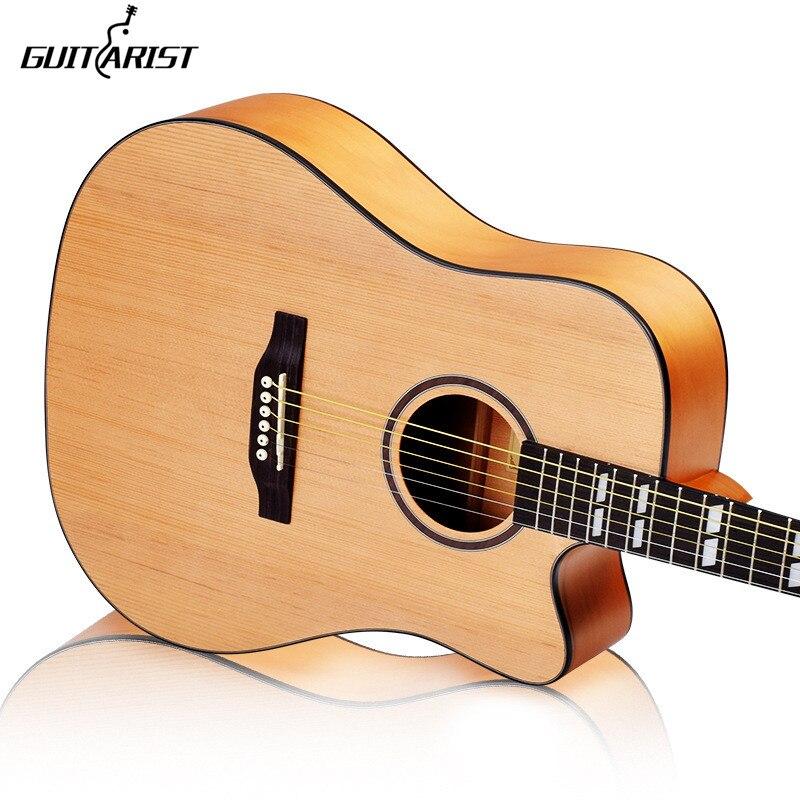 Guitare 41 pouces Picea Asperata guitare acoustique palissandre touche guitarra avec cordes de guitare