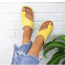 Flat Sole Ladies Casual Soft Big Toe Foot Correction Sandal Women Shoes Comfy Platform Orthopedic Bunion Corrector
