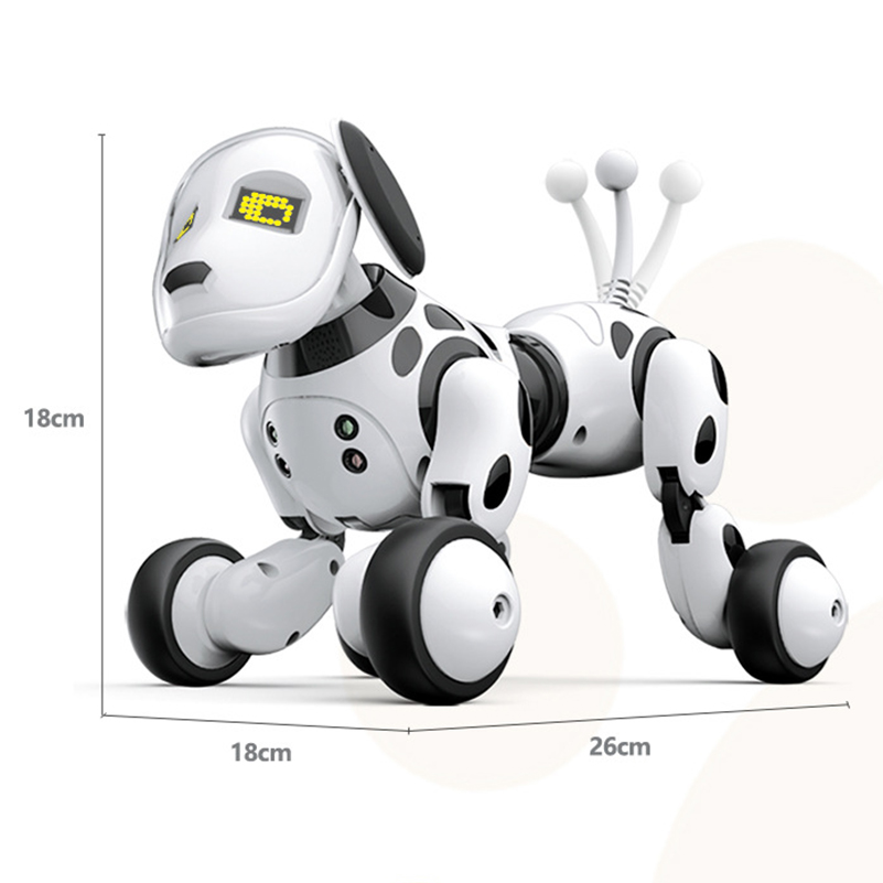 Купить с кэшбэком New Electronic Pets RC Robot Dogs Stand Walk Cute Interactive Intelligent Dog Robot Toy Smart Wireless Electric Toys For Kids