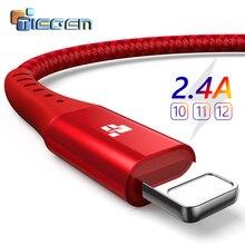 TIEGEM EX-long USB кабель для зарядного устройства для iPhone X 8 7, USB кабель для быстрой зарядки и передачи данных для iPhone 6 6s Plus 5 5S SE, кабель для мобильного телефона