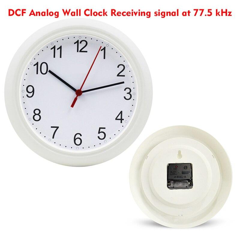 Europe RCC Wall Clock Receiving signal at DCF77.5kHz Dual motor operated Quartz Machine Radio Control 10'inch Clocks Automatical