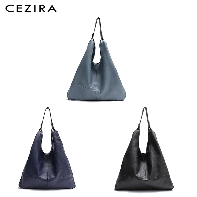 CEZIRA Large Hobo Bags Women Vegan Leather Shoulder Bags Soft High Quality PU Fashion Casual Style Ladies handbags Shopping Bags 4