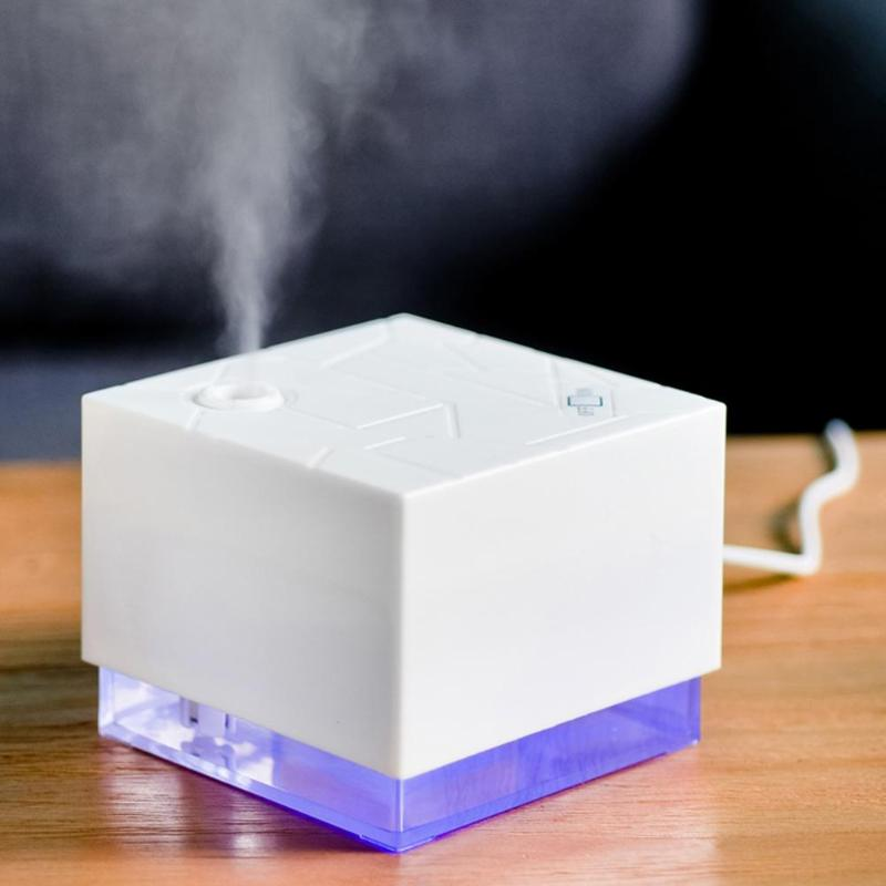 300ml USB Air Humidifier Ultrasonic Humidifier Water Cube Shape Essential Oil Diffuser Aroma Diffuser Mist Maker for Home Office 300ml ultrasonic mini usb air humidifier essential oil diffuser office desktop home mist maker aroma essential oil diffuser