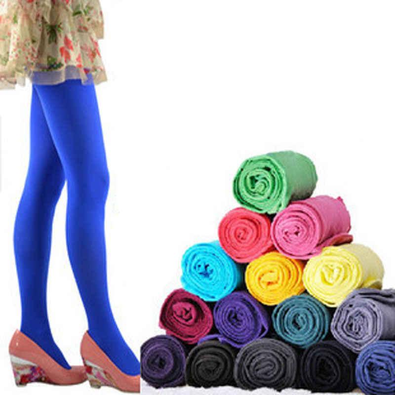 Sexy di Colore Della Caramella Delle Donne 120D Opaco Footed Calzamaglie Collant Spessi Calzamaglie Calze e Autoreggenti Modo Delle Donne Calzamaglie Collant Più Il Formato
