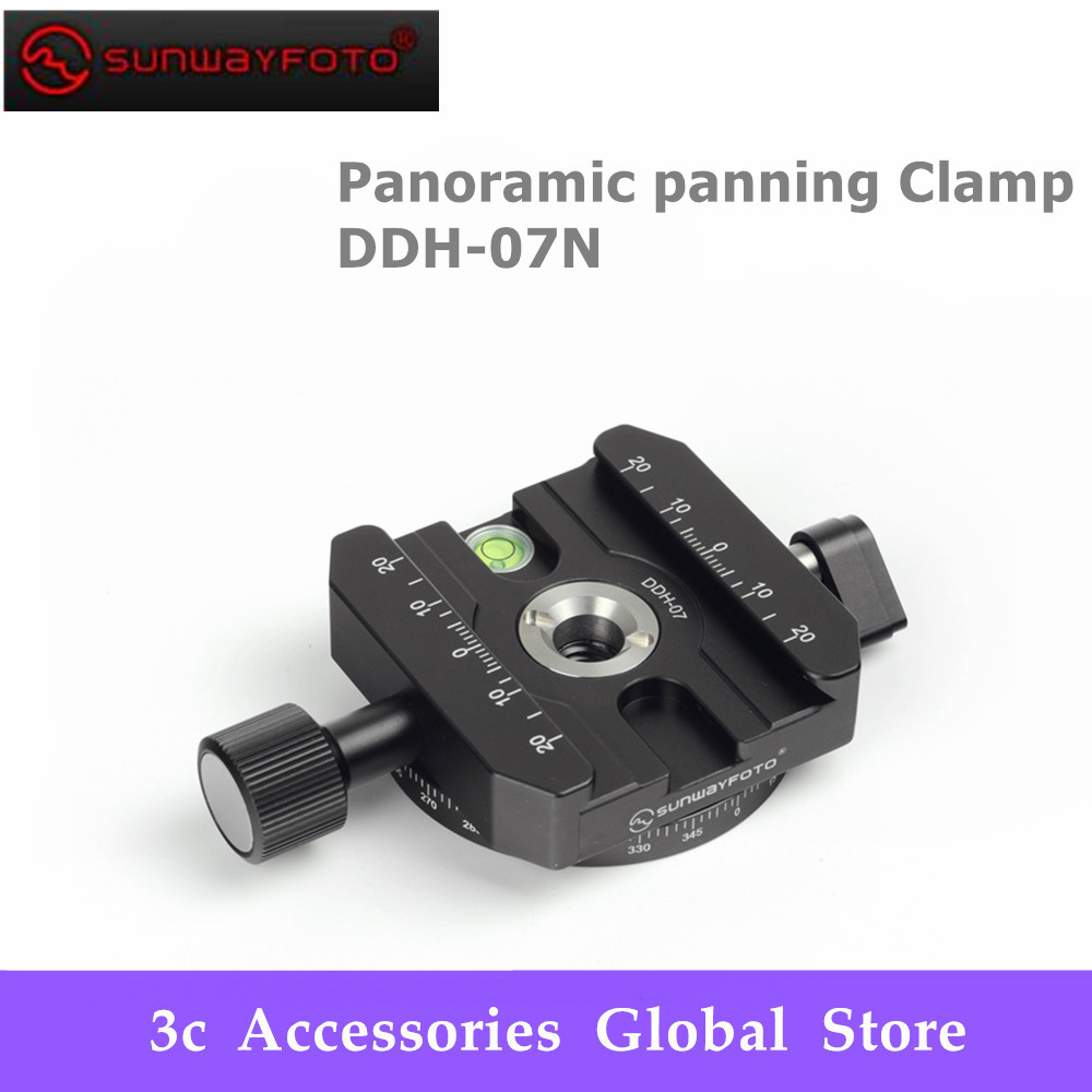 SUNWAYFOTO Panoramic panning Clamp DDH 07N Tripod Head Quick Release Clamp for DSLR BallHead Release Clamp