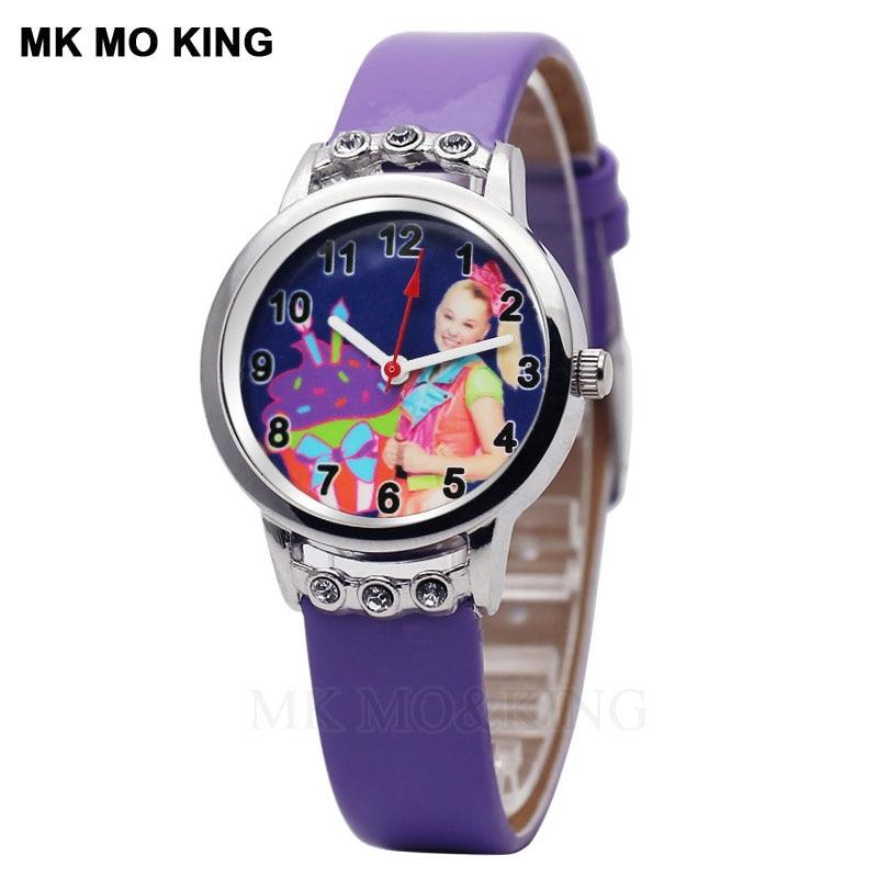 New Children's Watch Casual Crystal Leather Cartoon Little Princess Girl Quartz Clock  Sports Boy Child Birthday Gift Bracelet