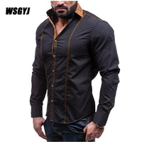 2017 Spring Autumn Features Shirts Men Casual Shirt New Arrival Long Sleeve Casual Slim Fit Male