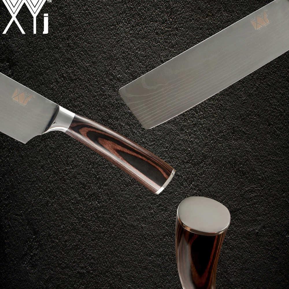 XYj Japon Tarzı Doğrama Bıçağı Paslanmaz Çelik Mutfak Cleaver Bıçak şefin Yüksek Karbonlu mutfak bıçağı Profesyonel Kaliteli