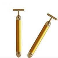 エネルギー美容24 kゴールドゴールドロッドフェイスリフト引き締め美容スティック振動美白フェイシャル美容器