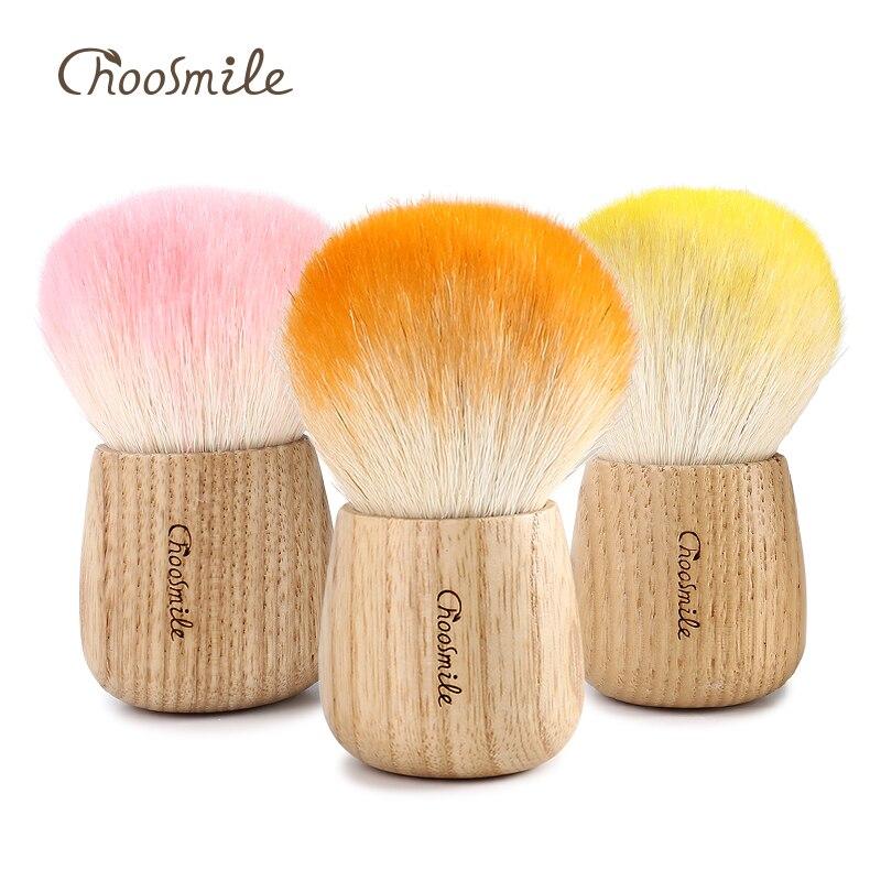 Choosmile Goat Hair Large Kabuki Setting Powder Brush High Quality  Professional Multi,function Handmade Makeup Blush Brushes