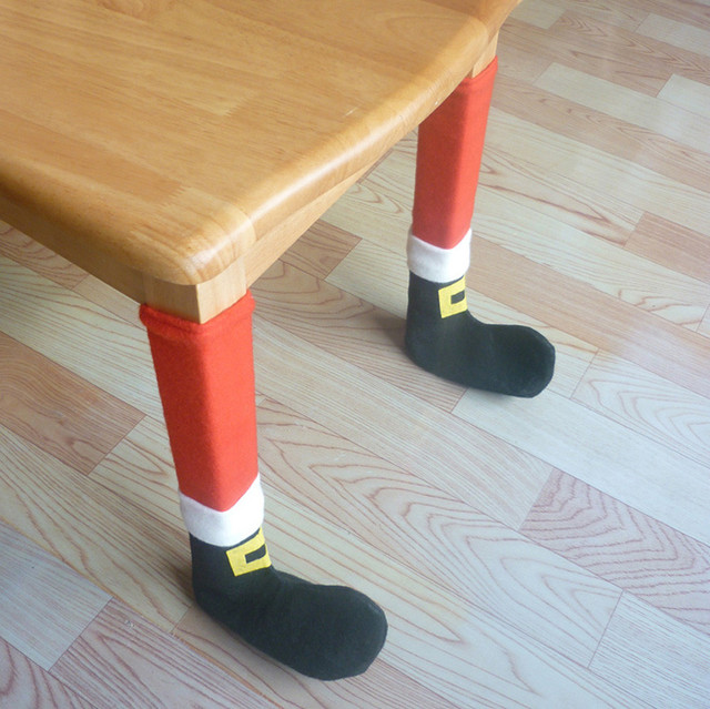 Unid 4 piezas Silla de Navidad pata pie cubierta mesa comedor silla ...