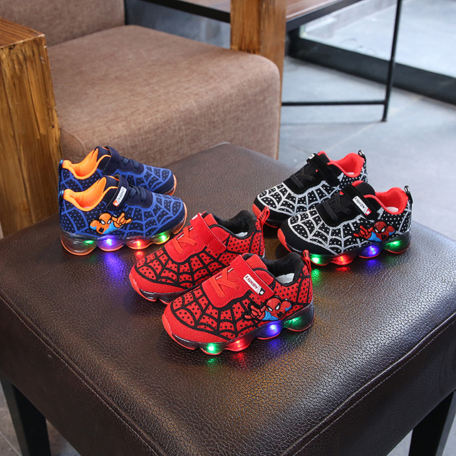 Baby Children Shoes New Spring Autumn Cartoon Outdoor Led Shoes Boys Girls Princess Cute Shoes With Light EU 26-31