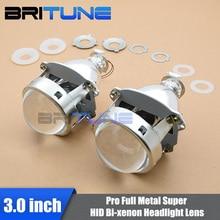 "Universal Super 3.0"" Full Metal HID Bi-xenon Projector Lens For H4 H7 Cars Headlamp DIY Styling Retrofitting Use H1 Xenon Bulbs"