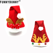 FUNNYBUNNY  Xmas Santa Claus Cap Reindeer Hat Party Gift For Adult Child Christmas kids baby christmas hat santa claus reindeer snowman fashion party caps for boys girls christmas gifts
