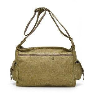 Image 3 - ZHIERNA Men Vintage Shoulder Bag Canvas Casual Messenger Bag Business Mochila Crossbody Bag Retro Man Sacoche business briefcase