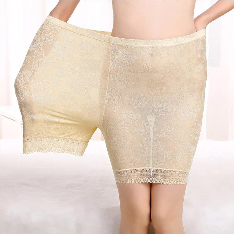 Размера плюс Защитные шорты анти натирание жаккардовое кружевное платье модальный хлопок Большие размеры защитные штаны для девочек женские шорты под юбкой летнее платье 2021