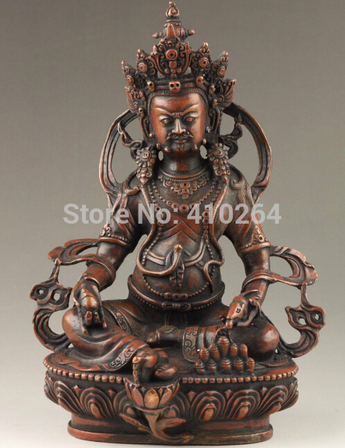 Old Craft Details About Vintage Collection HandMade Good Bronze Exorcism Spiritual Buddha Statue (A0314)