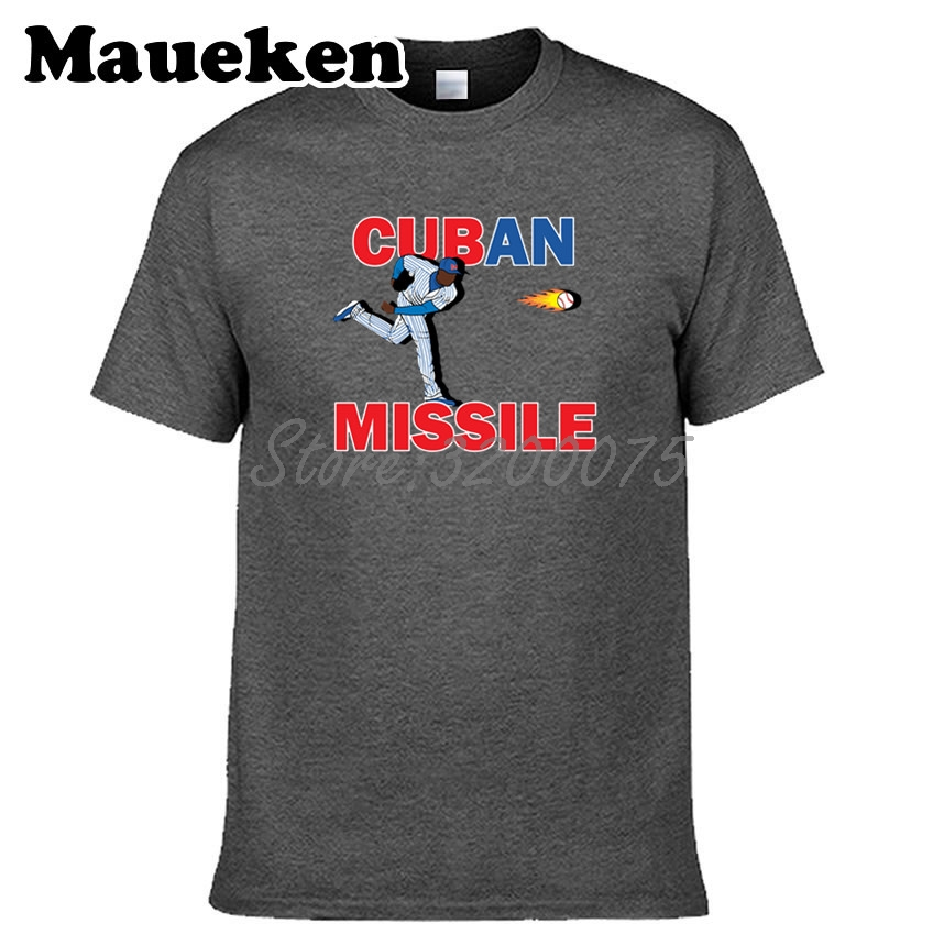 Men 54 Aroldis Chapman Chicago Cubs Cuban Missile Fastball T shirt 100%  Cotton Short Sleeve T SHIRT Top Quality W1103018-in T-Shirts from Men s  Clothing ... a668e225ca3