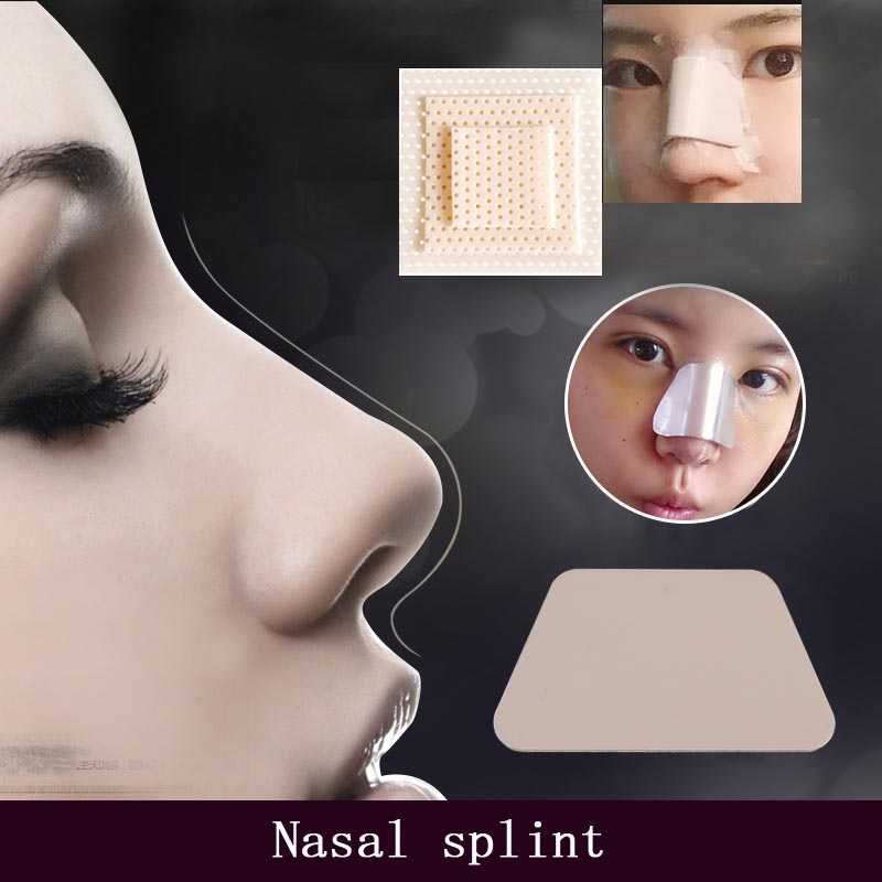 Rhinoplasty Aluminum Plastic Self-adhesive Nasal Splint Low Temperature Hot Plastic Plate Trapezoidal Nasal Splint Nasal Surgery
