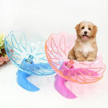 TPFOCUS Transparent Crystal Running Disc Wheel with Stand Toy for Pet Hamster Toy Pet Accessories Dog Running Cat Bed