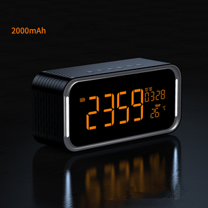 Image 2 - Quality Super Bass Bluetooth Speaker Portable Wireless Stereo Altavoz Snooze Digital Alarm Clock AUX TF Thermometer LED Display