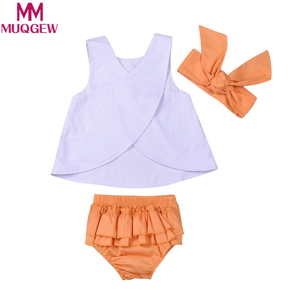 MUQGEW Newborn Infant Baby Girls Clothes Cross T Shirt Tops+Shorts Outfits Set clothes baby girl outerwear tops wear set for gir 2pcs children outfit clothes kids baby girl off shoulder cotton ruffled sleeve tops striped t shirt blue denim jeans sunsuit set