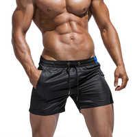 Новый сезон, летние спортивные пляжные шорты для мужчин, для сна, модные однотонные мужские домашние шорты, прозрачные мужские штаны для сна