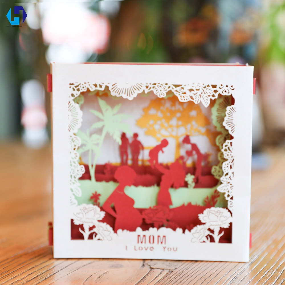 The mothers day birthday greeting thank you post cards 3d paper the mothers day birthday greeting thank you post cards 3d paper laser cut out pop up handmade gifts box to mom wholesale 10pcs in cards invitations from kristyandbryce Choice Image