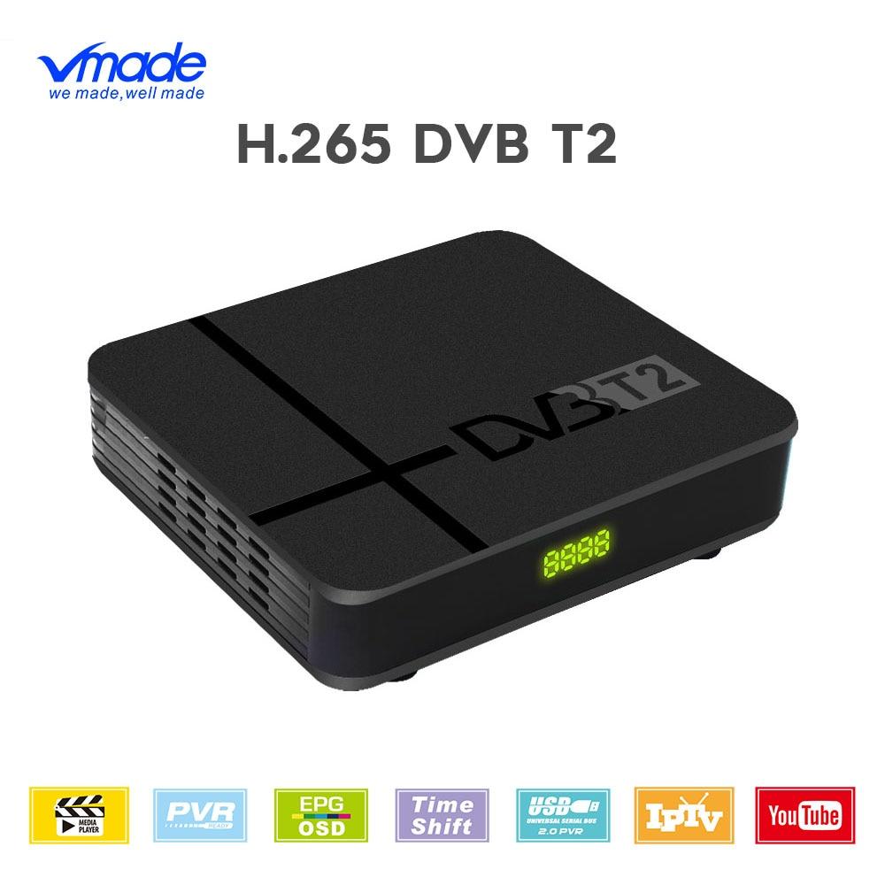 Vmade HD 1080 Digital TV Tuner DVB-T2 H 265 HEVC Terrestrial Receiver Built-in RJ45 Support Dolby AC3 Youtube Mini Set-Top Box