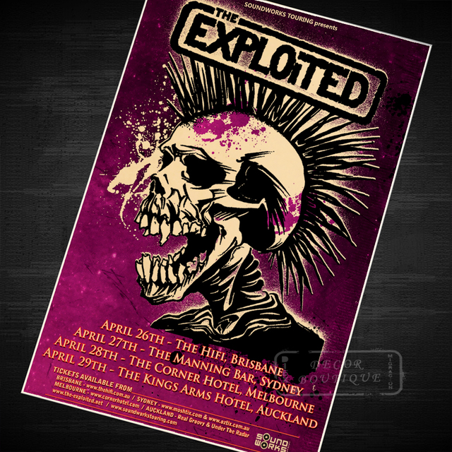The Exploited Music Vintage Retro Canvas Painting Paintings Poster ...