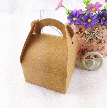 12PCS/Lot Kraft Paper Gift box with handle DIY Cake Handmade Boxes Blank Gift Power Bank Packaging Cardboard Box фото