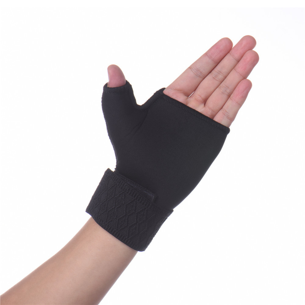 2 x Elastic Black Thumb Wrap Wrist Palm Supports Sport Gloves bandage Brace gym hand wrap band for fitness Weightlifting Tennis стоимость