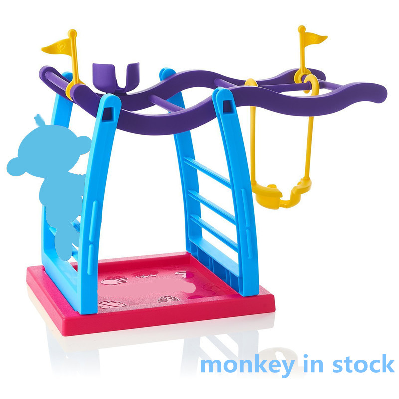 2017 Finger Monkey Jungle Gym Playset Interactive finger Baby Monkey movement Climbing Stand Kids Toys Christmas Gifts
