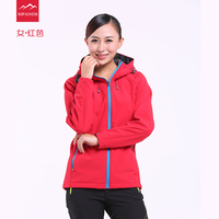 Custom Waterproof Hooded Softshell Jacket WOMEN Mammoth Hiking Clothing Thermal Tech Fleece Ski Fishing Climbing Clothes