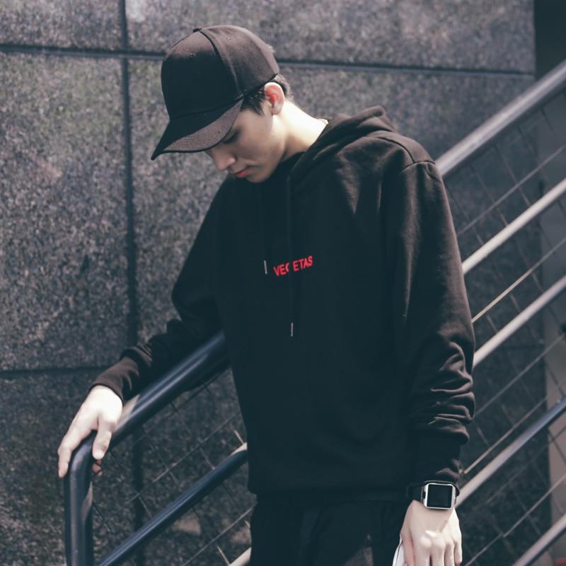 2017 Новый бренд балахон уличной Для мужчин хип-хоп moletom vegetas черно-белой печати капюшоном Для мужчин S Толстовки и свитшоты M-3XL