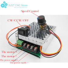 DC Motor Speed Controller 10-50V 40A Regulator PWM CW CCW Reversible Pulse Driver free shipping high power 40a dc motor speed regulator 9v 60v pwm universal motor drive