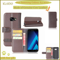 KLAIDO Genuine Leather Mobile Phone Case For Samsung Galaxy A3 2017 Phone Case Wallet Case For
