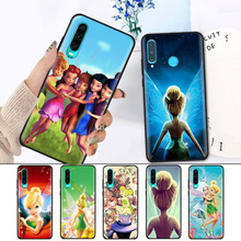 Black Silicone Cover Case for Huawei P30 P20 P10 Mate 20 10 Nova 5 5i Lite Pro  P Smart+ Z 2019 Shell Tinkers Bell Tinkerbell